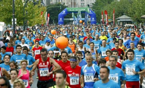 Cuadrado, vencedor en la gran carrera popular de Santander