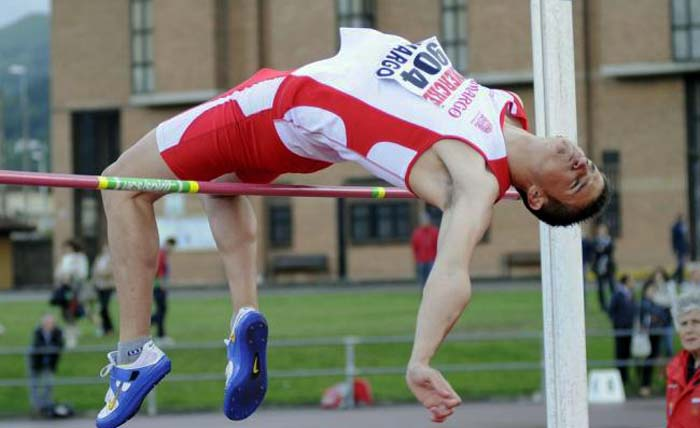David Bolado, campeón de España de salto de altura