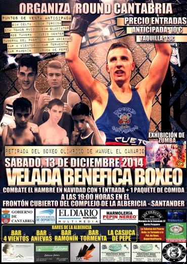 Velada solidaria de boxeo en La Albericia